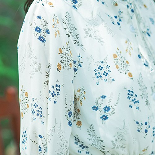 dans tudiants d't Robe Fleurs White 2 Type Robes pour Une MiGMV Une XS No de Femelle RfqYxwB