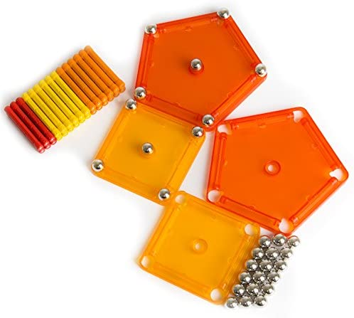Geomag, Classic Color, 262, Magnetkonstruktionen und Lernspiele, 64-teilig