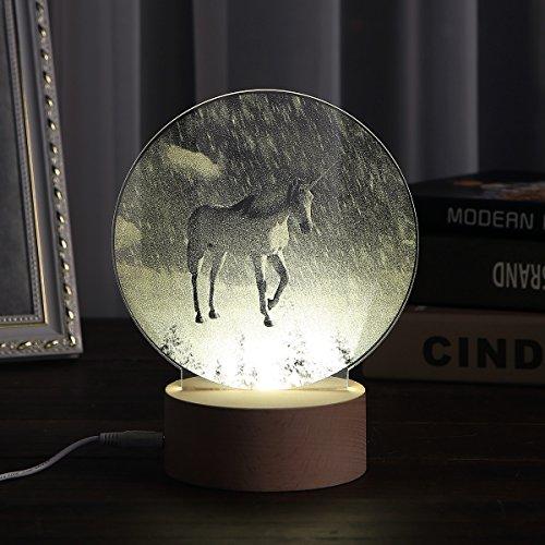 Snow Landscape Night Light for Kids Home Decor Desk Lamp Decoration Table Festival Mood Light (Night Lights Snow)