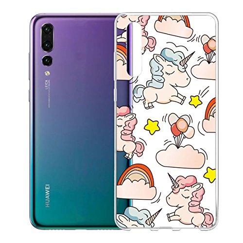 Funda para Huawei P20 Pro , IJIA Transparente Gato Y Libros TPU Silicona Suave Cover Tapa Caso Parachoques Carcasa Cubierta para Huawei P20 Pro (6.1) WM111