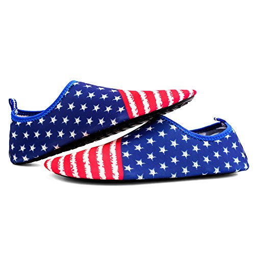 Sanyes Unisex Water Shoes Barefoot Quick-Dry Aqua Yoga Socks Slip-On Water Aerobics Flag XxBRiaQsUo