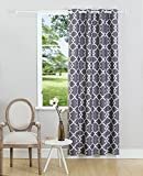 93 curtain panel grommet - KEQIAOSUOCAI Window Curtains Print Blackout Curtain Panels Thermal Insulated Grommet Drapes,52x84 Inches,Grey 1 Panel