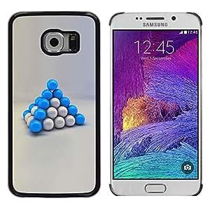 Blue Balls - Metal de aluminio y de plástico duro Caja del teléfono - Negro - Samsung Galaxy S6 EDGE / SM-G925 / SM-G925A / SM-G925T / SM-G925F / SM-G925I
