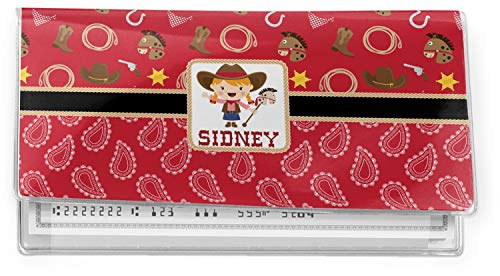 Red Western Vinyl Checkbook Cover (Personalized)