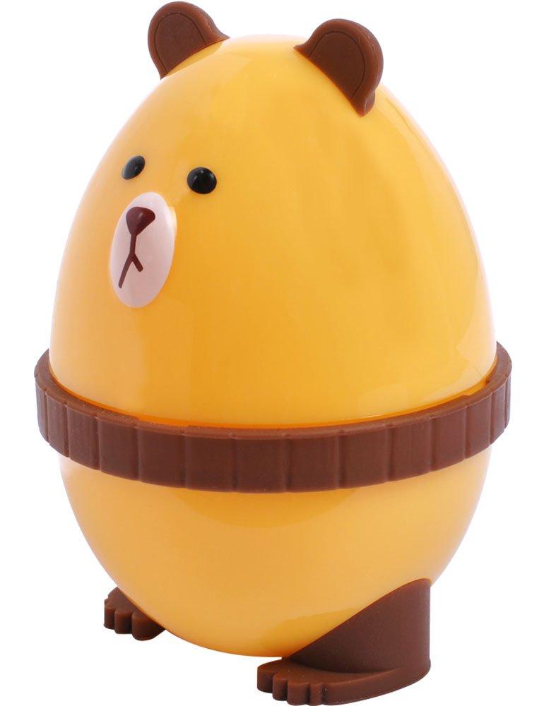 Egg Shells Peeler & Cracker by PROKITCHEN with Cute Bear Look Design Shaker for Hard Boiled Egg Funny Gifts for Kids