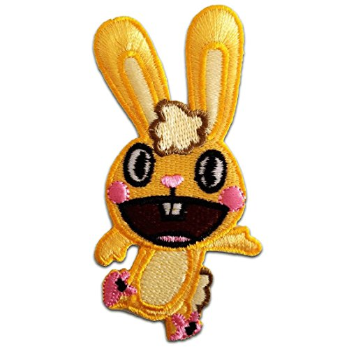 Iron on patches - Happy Tree Friends ''Cuddles'' Comic - yellow - 6,5x9,0cm - by catch-the-patch Application Embroided patch badges