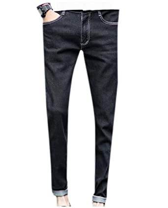 ae70f5ea2091 WQ EnergyMen Mens Low-Waist Pure Color Vintage Wash Tapered Regular Fit  Jean  Amazon.in  Clothing   Accessories