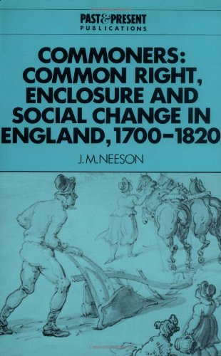 Download Commoners: Common Right, Enclosure (Past and Present Publications) pdf