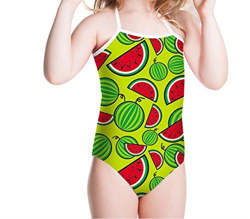 FOR U DESIGNS Little Girls' One Piece Swimsuit Swimming Wear Watermelon Pattern 3T-4T