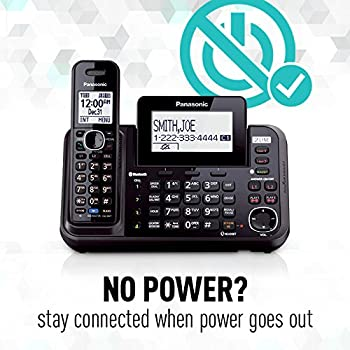 Panasonic Kx-tg9542b Link2cell Bluetooth Enabled 2-line Phone With Answering Machine & 2 Cordless Handset 7