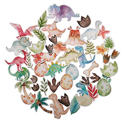 Navy Peony Fun Dinosaur Stickers for Kids (44 Pack) - Small, Cute, Waterproof and Durable | Assorted Animal Decals for Party Favors, Laptops, Water Bottles: Arts, Crafts & Sewing