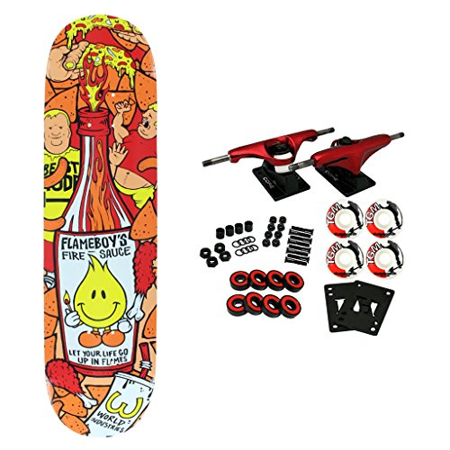 World Industries Skateboard Complete Flameboy Fire Sauce 8.1