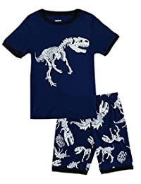 IF Pajamas Dinosaur Little Boys Shorts Set Pajamas 100% Cotton Clothes Toddler Kid 7T