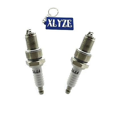 XLYZE F7TC bujía de encendido 2pcs para GX120 GX160 GX200 GX240 GX270 GX340 GX390 generador de césped cortacésped Go Kart Mini Bike
