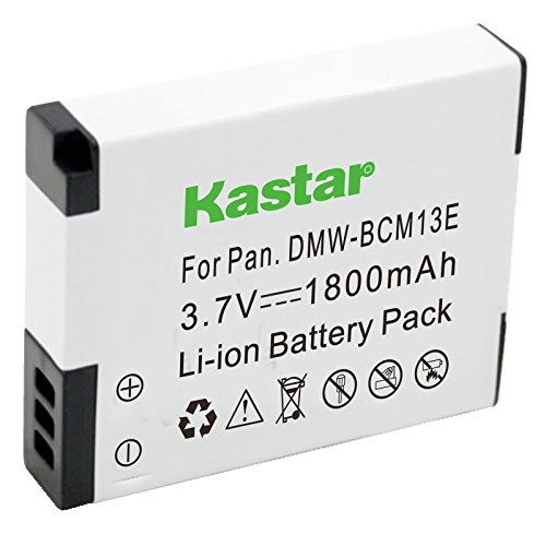 Kastar Battery for Panasonic DMW-BCM13 BCM13PP and Lumix DMC-FT5 DMC-LZ40 DMC-TS5 DMC-TS6 DMC-TZ37 DMC-TZ40 DMC-TZ41 DMC-TZ55 DMC-TZ60 DMC-ZS27 DMC-ZS30 DMC-ZS35 DMC-ZS40 DMC-ZS45 DMC-ZS50 Cameras