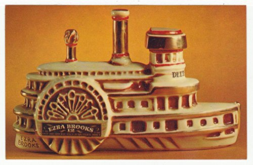 Ezra Brooks Distilling Co, Paddlewheeler, New Orleans to Louisville, Louisiana Vintage Original Postcard #2045 - 1960's