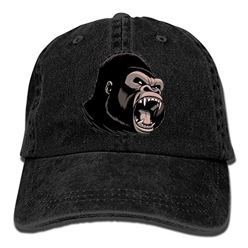 Customized Unisex Fierce Gorilla Trucker Baseball Cap Adjustable Peaked Sandwich Hat ()