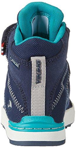 Viking Sagene Mid, Zapatillas de Deporte Exterior Unisex Niños Blau (Navy/Green)