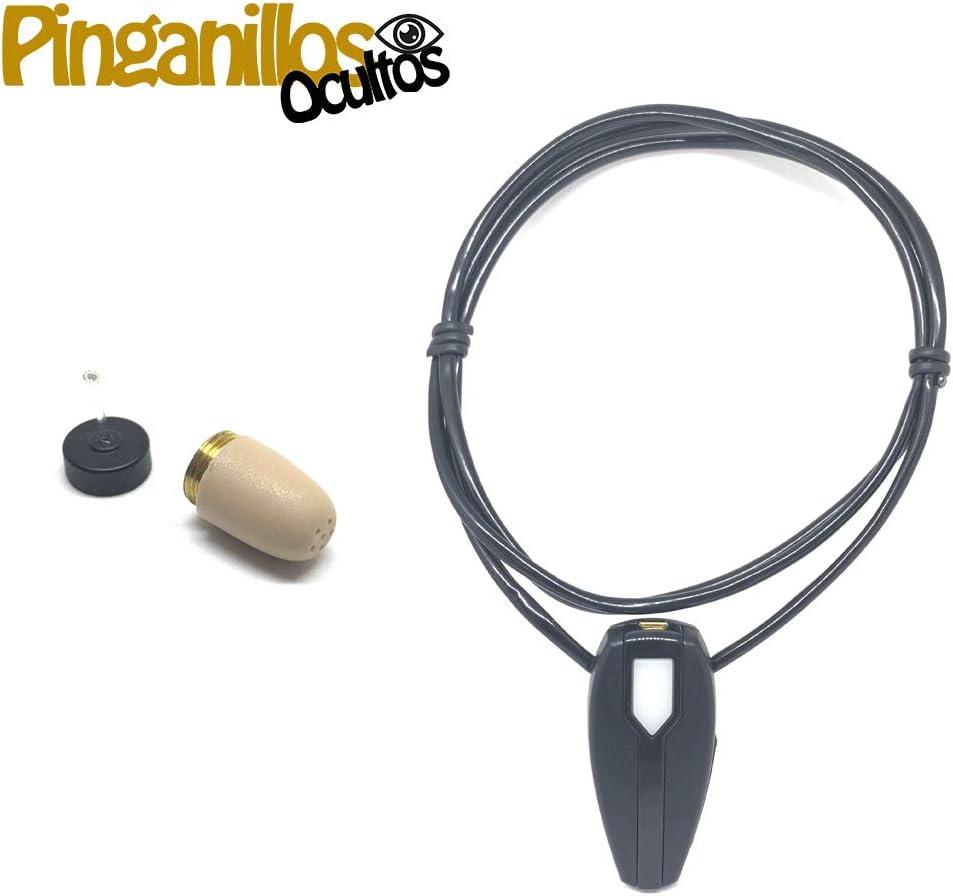 Auricular Invisible Supermini + Collar Bluetooth con Micrófono (Pinganillo + Collar Bluetooh)