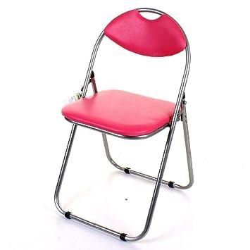 Silla plegable, color negro y rosa (asiento y respaldo ...
