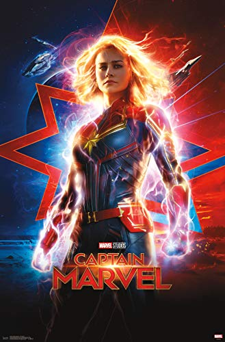 (Trends International Captain Marvel-One Sheet Wall Poster, 22.375