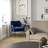 DHP DZ59192 Alivia Accent Chair, Grey Velvet