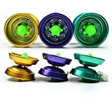 yo yo starter kit - Aluminum Design Professional YoYo Ball Bearing String Trick Alloy Kids Diameter: 5.5cm Width: 3.5 cm random color