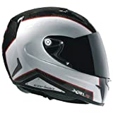 Nexx XR1R Full Face Helmet (Carbon White Red, Large)
