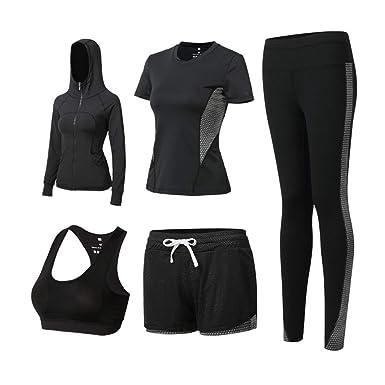 Wjhdeigj Números de deportes de 5 piezas para mujer Fitness, yoga ...