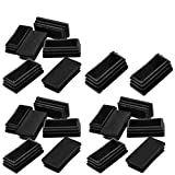 COMOK Black Plastic Home Rectangle Chair Glide Insert Finishing Plug 10 Pcs