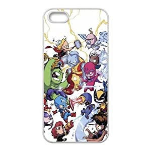 Chibi Marvel iPhone 5 5s Cell Phone Case White phone component RT_161686