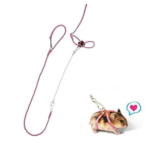 CULER Rata del Animal doméstico Ratón arnés Ajustable de la Cuerda ...