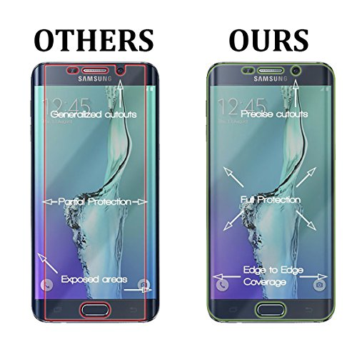 Samsung Galaxy S6 Edge [5.1] Pack [Slim Aluminum] Case + [Tempered Glass] Screen Protector [Dual Layer] Cover [Shock Resistant] Alloy Brushed [Absorbent Bumper] PVC [INO Metal] Skin [Motomo] Gray by MyNovation (Image #6)