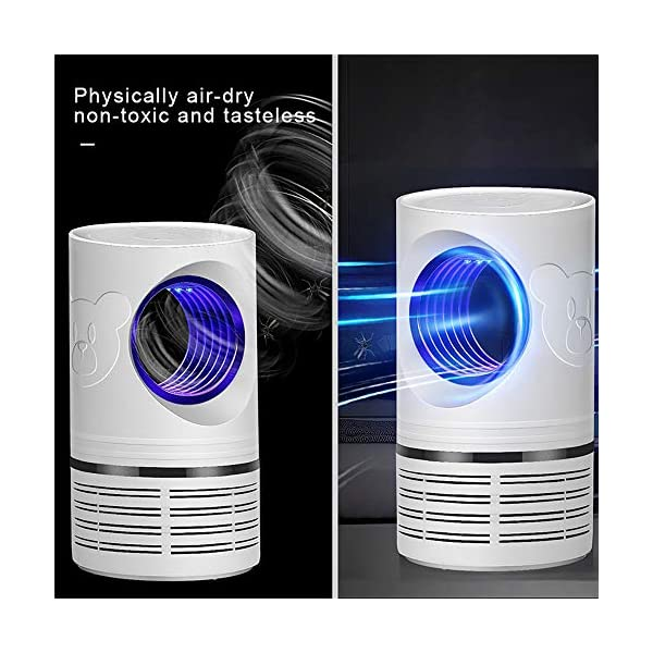 Bcamelys Lampada Antizanzare, Zanzariera Elettrica 5w Anti Zanzare USB con Luce UV Lampada Antizanzare Elettrico… 2 spesavip