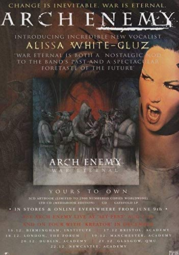 Desconocido Arch Enemy War Eternal Póster Foto Alissa White-Gluz Camisa Doomsday 001 (A5-A4-A3) - A5: Amazon.es: Amazon.es