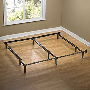 Zinus Compack Adjustable Steel Bed Frame, for Box Spring & Mattress Set, Fits Full to King
