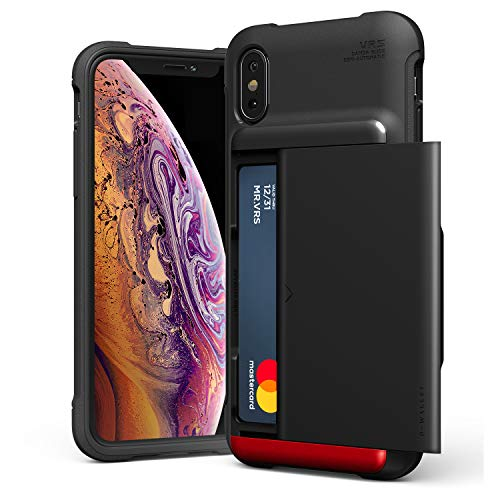 - iPhone Xs Case, VRS Design Damda Glide Shield Protective TPU Semi-Auto Slide Slim Shockproof Credit Card Slot Wallet Case Compatible with Apple iPhone X (2017) / iPhone Xs (2018)