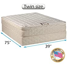 Tomorrow's Dream Inner Spring Pillow Top (Euro Top) Twin Size Mattress and Box Spring Set