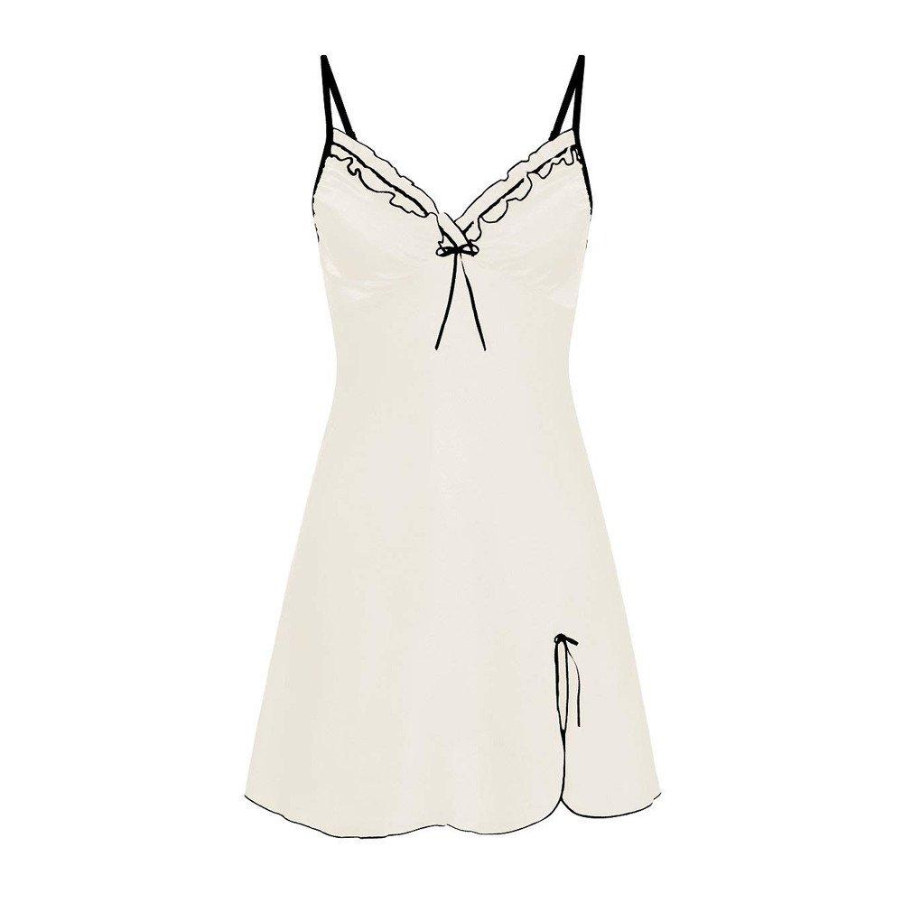 LUCA Women V-Neck Lingerie Babydoll Chemise Nightwear Outfits Underwear Sleepskirt Plus Size