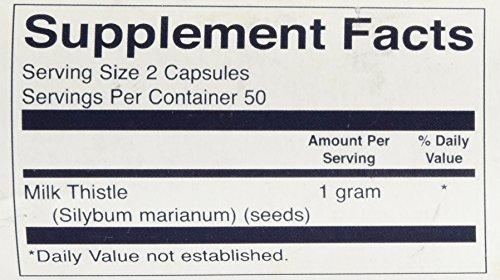 Swanson Full Spectrum Milk Thistle 500 mg 100 Caps