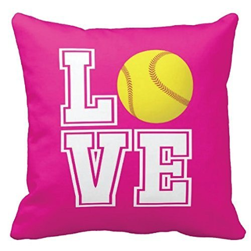 softball-pillow-cover-hot-pink-white-love-yellow-ball-any-colors-girls-custom-throw-pillow-cover-gift-for-sport-lovers-16x16