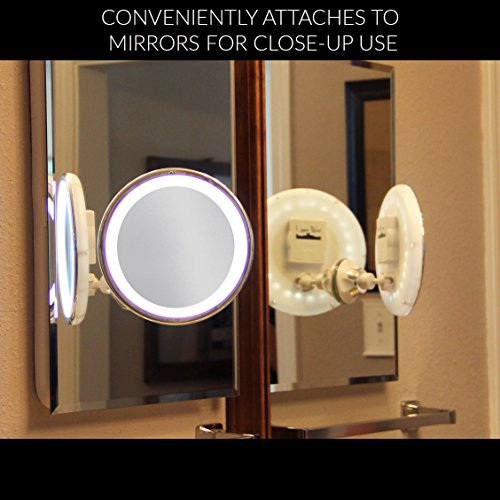 lowest price 7x magnifying lighted makeup mirror warm led tap light bathroom vanity mirror. Black Bedroom Furniture Sets. Home Design Ideas