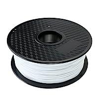 TIANSE White PLA 3D Printer Filament, 1 kg Spool, 1.75 mm, Dimensional Accuracy +/- 0.03 mm by TIANSE