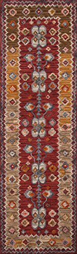 Momeni Rugs TANGITAN-1RED2380 Tangier Collection, 100% Wool Hand Tufted Tip Sheared Transitional Area Rug, 2'3
