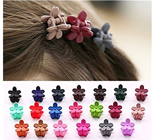 Cuhair 20pcs Women Girl Hair Bangs Mini Hair Claw Clip Hair Pin Flower Accessories