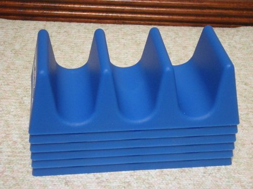 Taco Tender, Taco Holder, Blue, 4 Pack