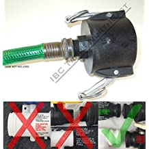 "UKC 275/330 IBC FOOD GRADE Tote Drain Adapter 2"" Cam-Lock x Male Garden Hose"