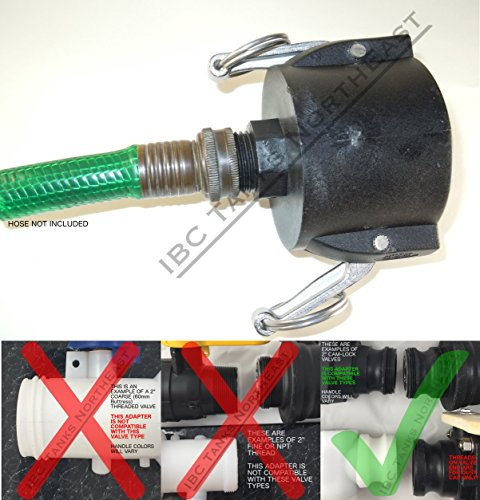 """UKC 275/330 IBC FOOD GRADE Tote Drain Adapter 2"""" Cam-Lock for sale  Delivered anywhere in USA"""