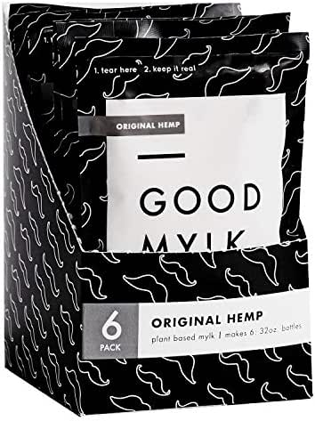 Goodmylk Co. - Hemp Milk Concentrate (6 Pack) - Makes 6: 32oz Bottles - Organic, Non-GMO, Vegan, Low Glycemic, Sustainable, Keto, Dairy Free (Original)