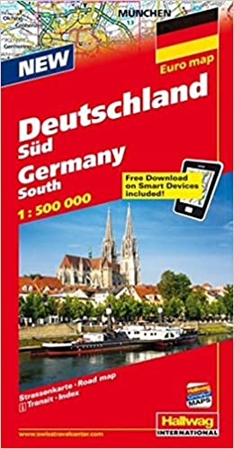 Southern Germany, Road Map: Hallwag: 9783828300156: Amazon ...